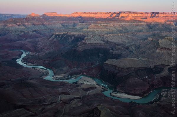 Sunrise over the Grand Canyon from Comanche Point