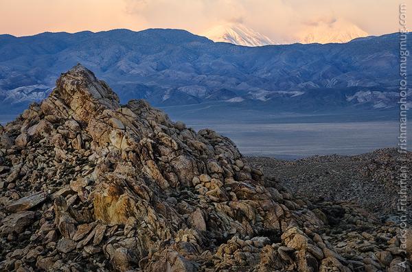Dry Desert Snowy Peaks