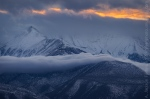 Winter Clouds on the White Mountains, California