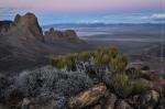 Twilight over Railroad Valley, Nevada