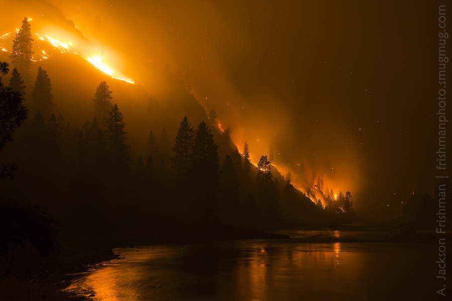 Blaze over Water
