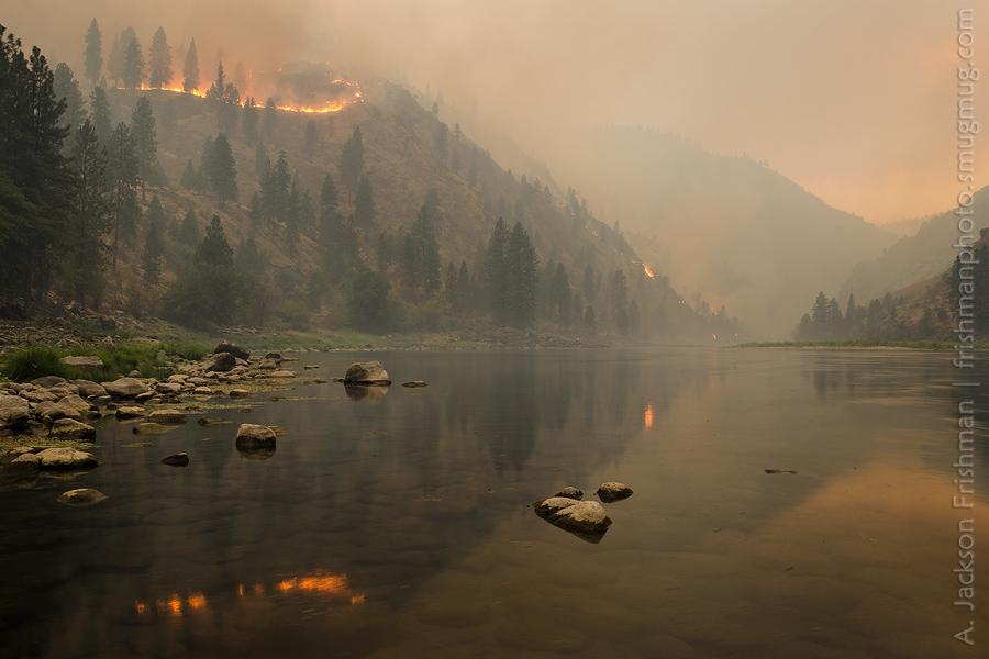 Tepee Springs Fire Descending