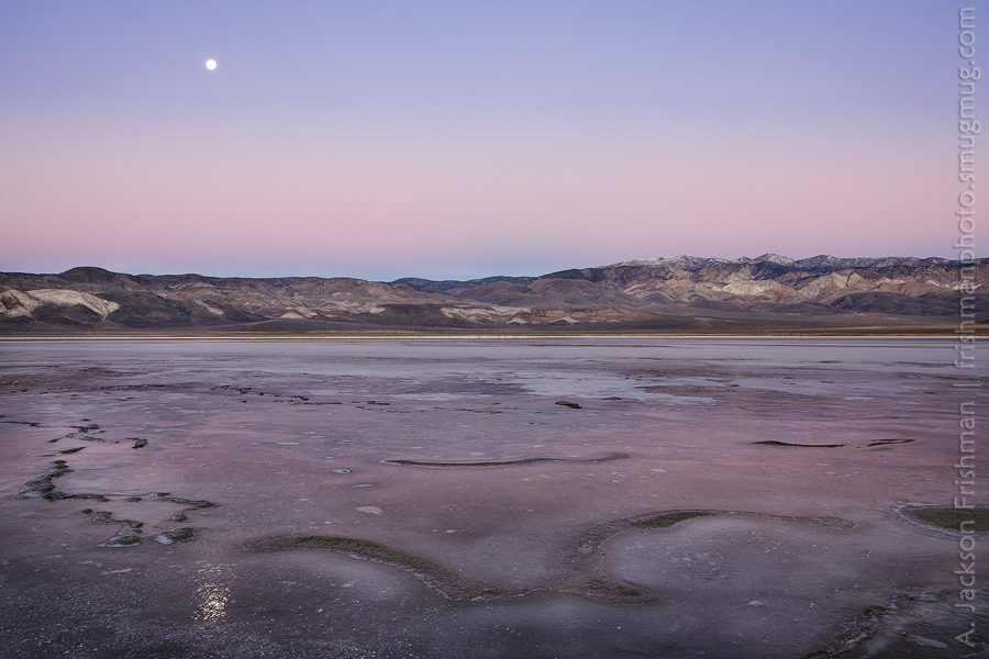Icy Moonset