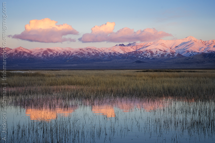 Even clouds over the Stillwater Range, Stillwater National Wildlife Refuge, Nevada