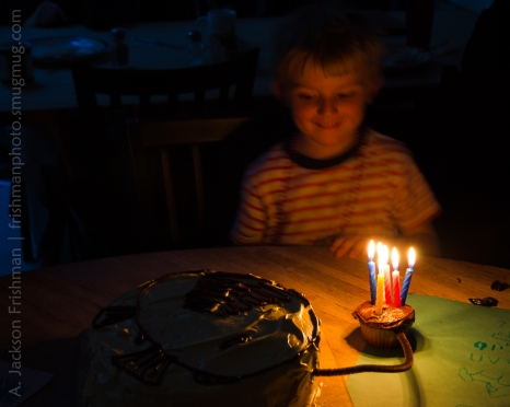 6th birthday with anglerfish cake