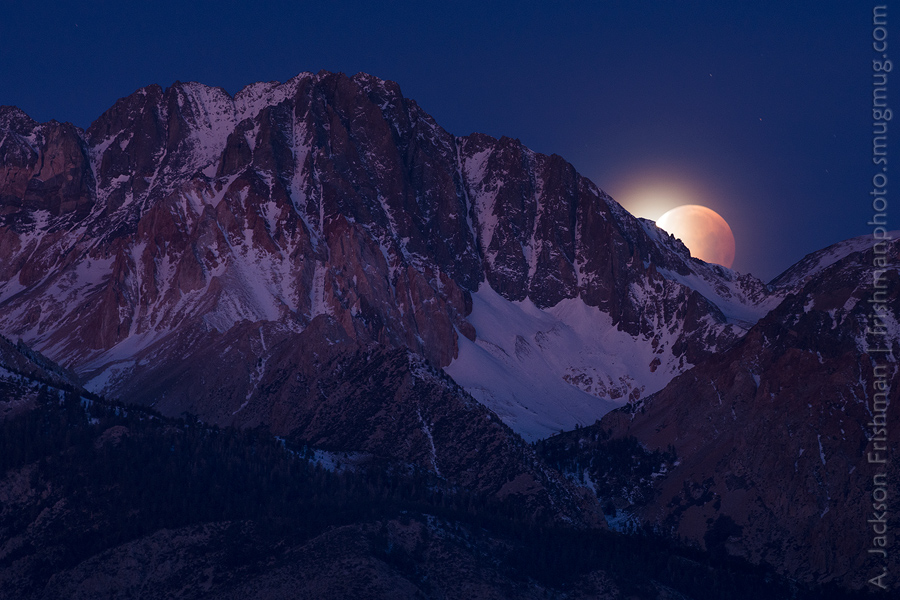 Split Mountain Lunar Eclipse