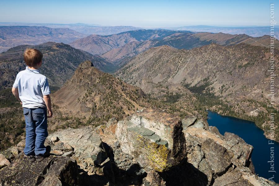 Summit of He Devil peak above Hells Canyon, Idaho