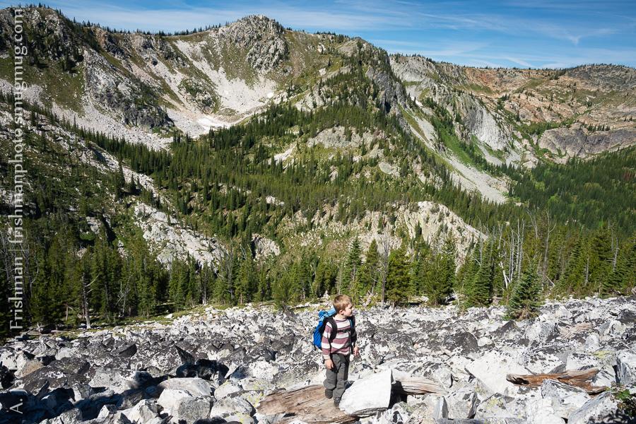 Young hiker in Gospel-Hump Wilderness, Idaho