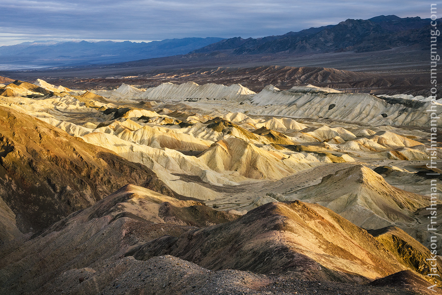Badlands at sunrise, Death Valley National Park