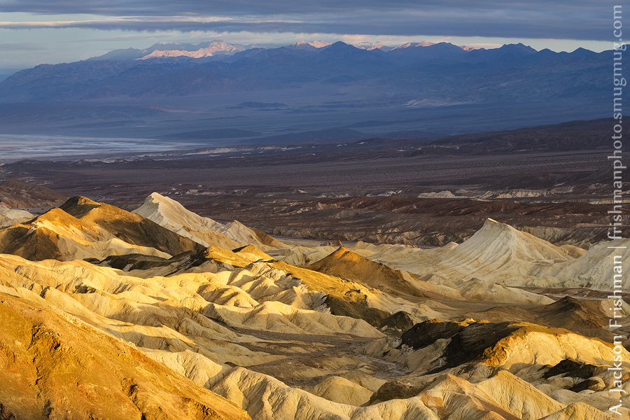 Badlands and Grapevine Mountains at sunrise, Death Valley National Park